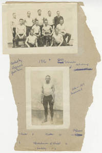 1916 wrestling page from an unidentified scrapbook