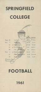 The 1961 Springfield College Football brochure