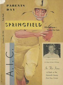 Brochure from the Springfield College vs. AIC football game (October 28, 1961)