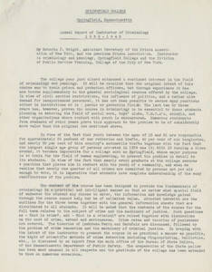 Annual Report of Instructor of Criminology by Roberts J. Wright (1940)