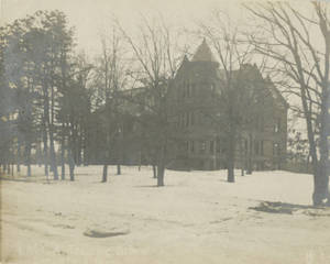 Judd Gymnasium in winter time
