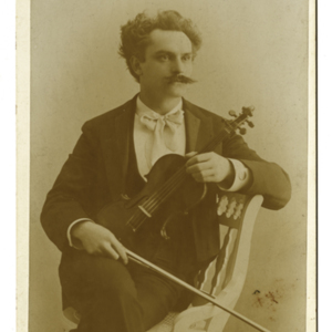 Portrait of a Man with Violin