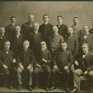 Group photo: 17 men in three rows