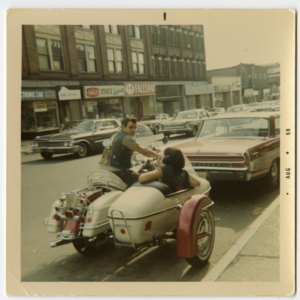 East Main Street - Chicopee Falls: a man and a woman