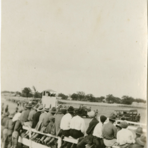Camp MacArthur - Waco, Texas - World War I - a crowd at the airfield