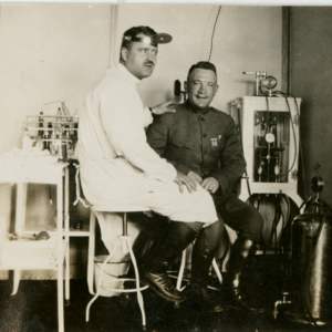 Camp MacArthur - Waco, Texas - World War I - A Doctor and a soldier