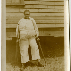 Camp MacArthur - Waco, Texas - World War I - A man in costume
