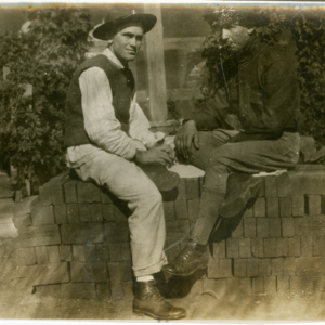 Camp MacArthur - Waco, Texas - World War I - A patient and a soldier
