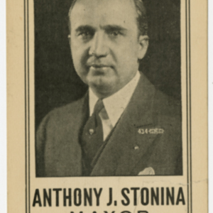 Anthony J. Stonina - campaign flyer 1933