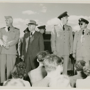 Westover Air Reserve Base - community and dignitaries welcomed to the Air Field