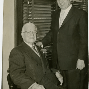 Anthony J. Stonina - with another former Mayor