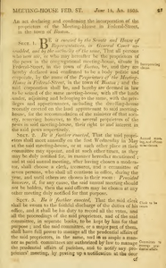 1805 Chap. 0019. An Act Declaring And Confirming The Incorporation, Of The Proprietors Of The Meeting-House In Federal Street In The Town Of Boston.