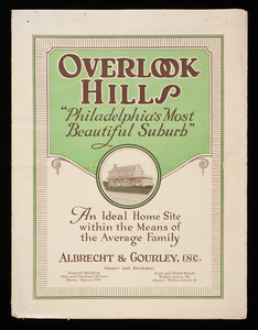 Overlook Hills, Philadelphia's most beautiful suburb, Albrecht & Gourley, Inc., Packard Building, 15th and Chestnut Streets, Philadelphia, Pennsylvania