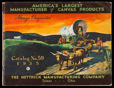 Catalog no. 59, spring and summer season 1935, canvas products, The Hettrick Manufacturing Co., Summit at Magnolia Street, Toledo, Ohio