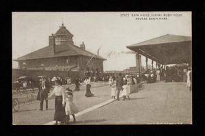 State Bath House During Rush Hour, Revere Beach, Mass.