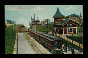 Narrow Gauge Railroad Station, Revere Beach, Mass.