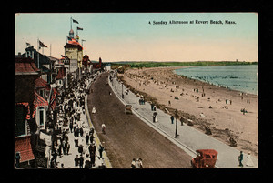 A Sunday Afternoon at Revere Beach, Mass.