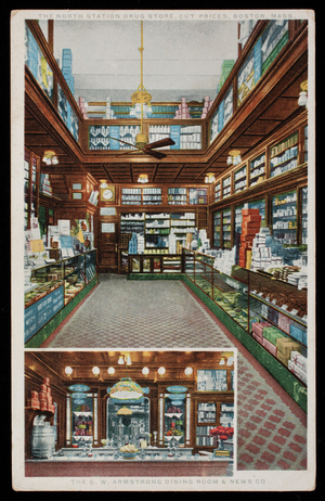 The North Station Drug Store, Cut Prices, Boston, Mass., 1915