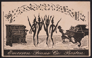 Trade card for the Emerson Piano Co., 159 Tremont Street, Boston, Mass., undated