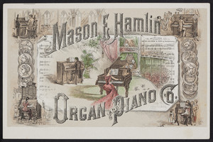 Trade cards for the Mason & Hamlin Organ and Piano Co., Boston, New York, Chicago, undated