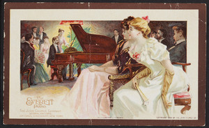 Trade card for The Everett Piano, Boston, Mass., 1893