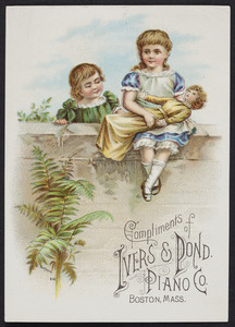 Trade card for the Ivers & Pond Piano Co., Boston, Mass., undated