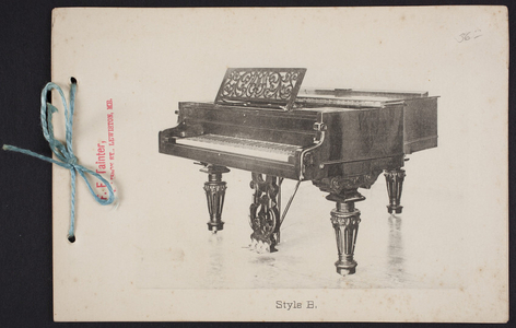 Style Catalog for Chickering & Sons Pianos, Chickering & Sons, 791 Tremont Street, Boston, Mass., undated