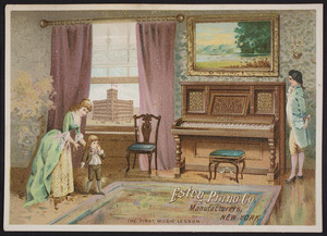 Trade card for the Estey Piano Co., manufacturers, New York, New York, undated