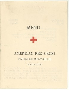 American Red Cross Enlisted Men's Club menu