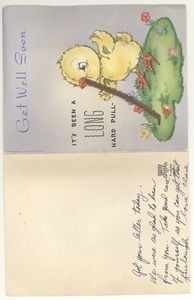 Get well card from Clare Dillon to Robert E. Dillon