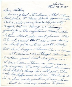 Letter from Robert E. Dillon to Henry Dillon and Mary Dillon