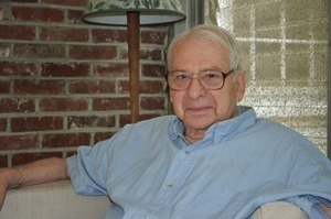 Lester Grinspoon: seated in his living room at home