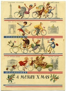 Christmas card from Maida Riggs to unidentified correspondent