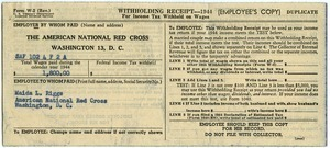 Withholding receipt for income tax (W-2)