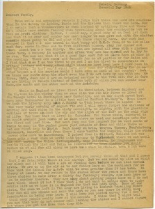 Letter from Maida Riggs to Riggs family