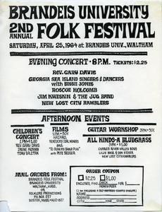 Brandeis University, 2nd Annual Folk Festival