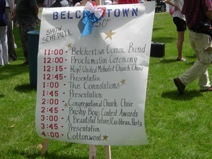 250th anniversary celebrations, Belchertown, Mass. Mass.