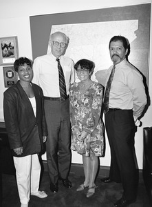 Congressman John W. Olver (2d from left) with visitors to his office