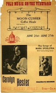 Folk music on the Vineyard: The Moon-Cusser Coffee House