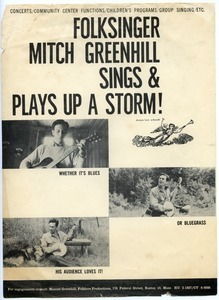 Folksinger Mitch Greenhill sings & plays up a storm!