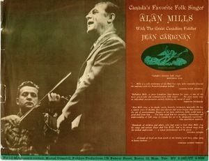 Canada's favorite folk singer Alan Mills with the great Cadandian fiddler Jean Carignan