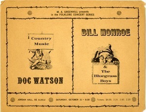 Country Music: Doc Watson -- Bill Monroe and the Bluegrass Boys