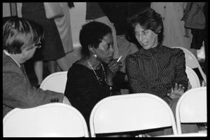 Arthur F. Kinney (left) and Esther Terry (center) at the 10th anniversary celebrations for Women's Studies at UMass Amherst