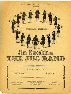 The Harvard Outing Club presents Unblushing Brassiness, Jim Kweskin & the Jug Band