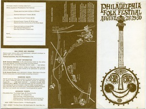 3d Annual Philadelphia Folk Festival, Aug. 28-29-30