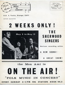 2 weeks only!~ The Sherwood Singers... the Mon Ami is On the Air!