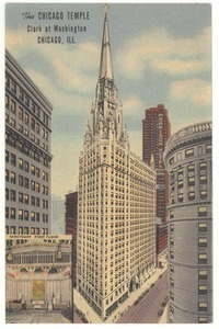 Chicago Temple postcard