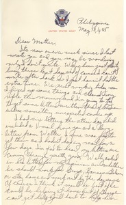 Letter from Harold D. Langland to Clara M. Langland