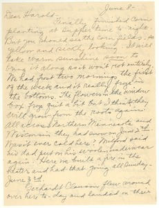 Letter from Clara M. Langland to Harold D. Langland