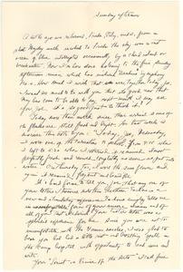 Letter from Judy G. Wood Langland to Joseph Langland